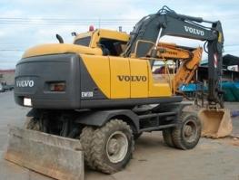Аренда колесного экскаватора Киев Volvo EW130