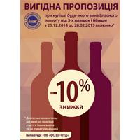Акция на вино собственного импорта