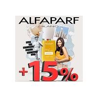 +15% к дисконтной карте при покупке товаров ТМ Alfaparf